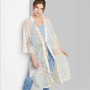 Wild Fable sheer floral kimono